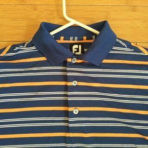 ⛳ FJ Footjoy Poly Spandex Golf Polo Blue Small S